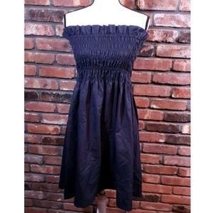 Zara Woman Strapless Smocked A-line Dress